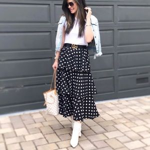 Tiered Polka Dot Skirt